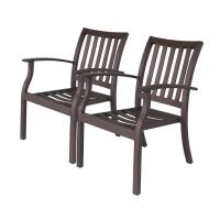 Shop allen + roth Gatewood 2-Count Brown Aluminum ...