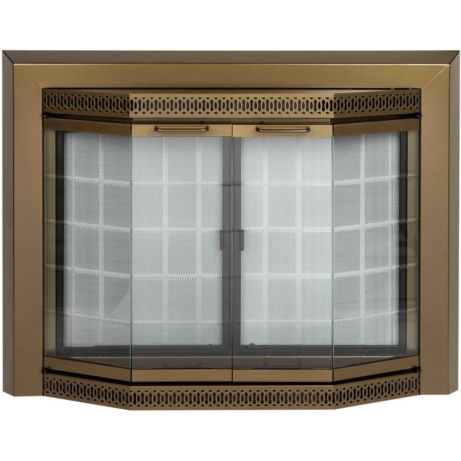Custom Glass Fireplace Doors Fireplace Doors At Lowes