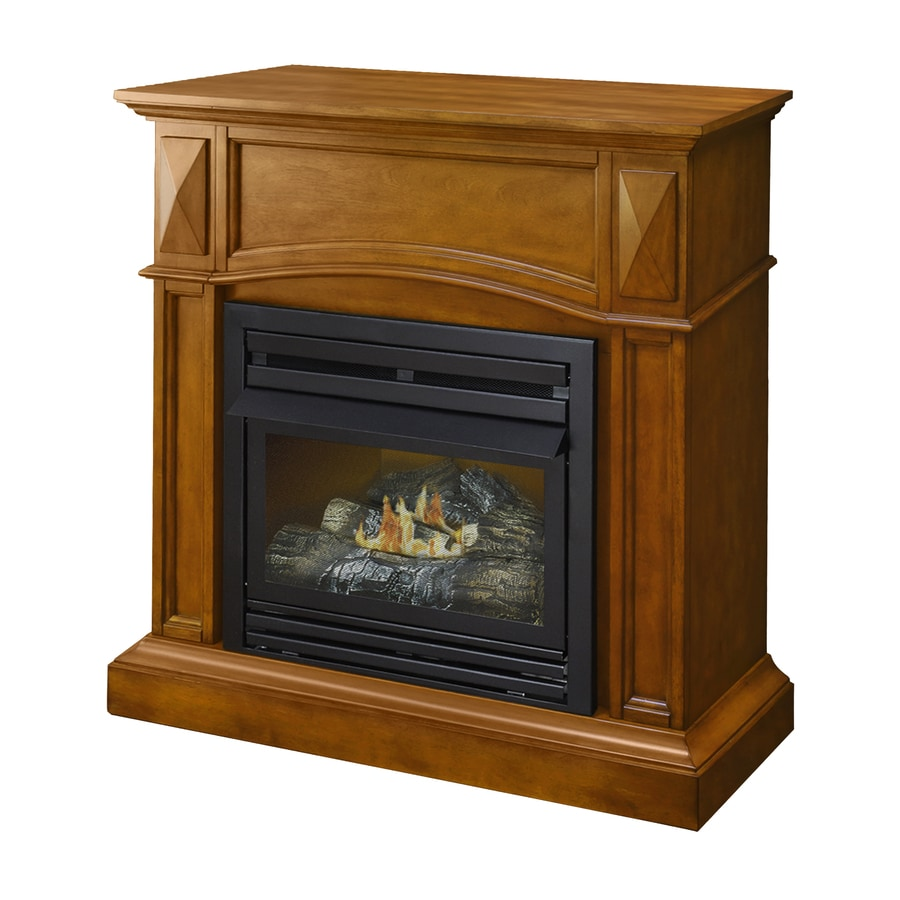 Fireplace Propane Heater Pleasant Hearth 35 75 In Dual Burner Heritage Gas Fireplace At