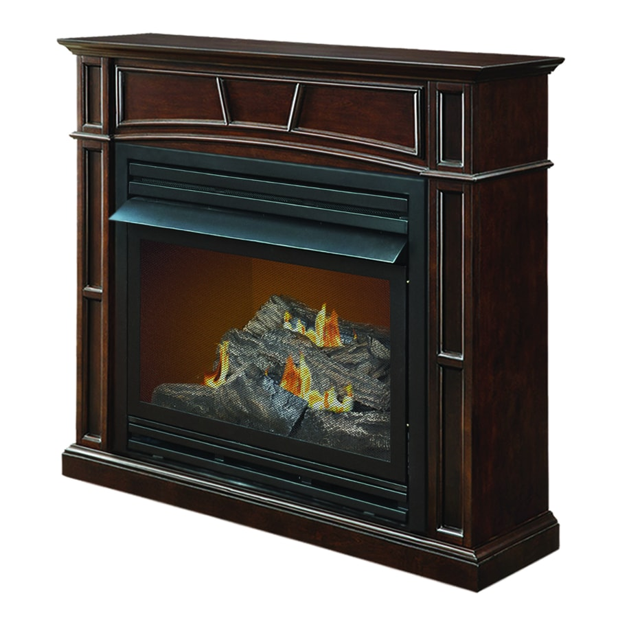 How Does A Vent Free Gas Fireplace Work Pleasant Hearth 45 88 In Dual Burner Tobacco Gas Fireplace At