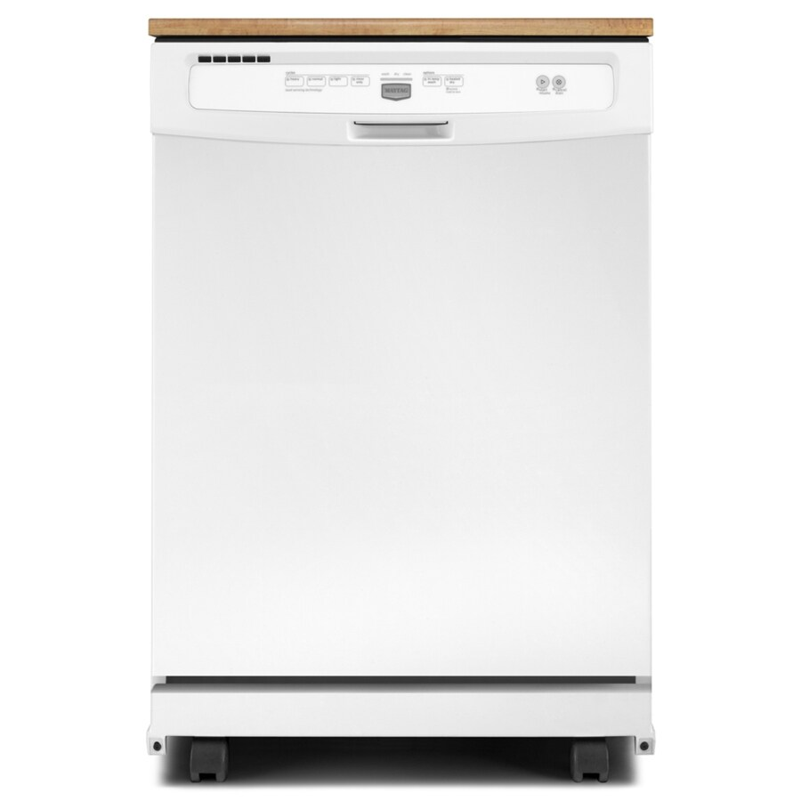 18 Portable Dishwasher Canada Maytag 24 125 In 64 Decibel Portable Dishwasher White At Lowes