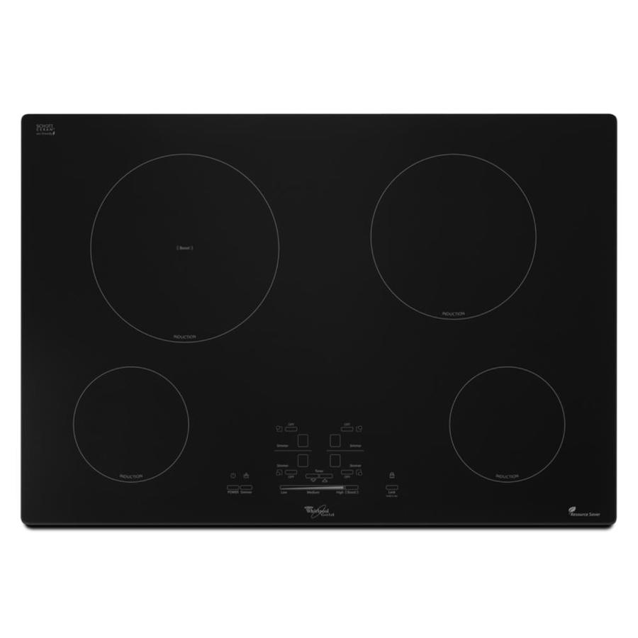 Whirlpool Countertop Stove Whirlpool Gold 30 In Black Induction Cooktop Common 30 Inch