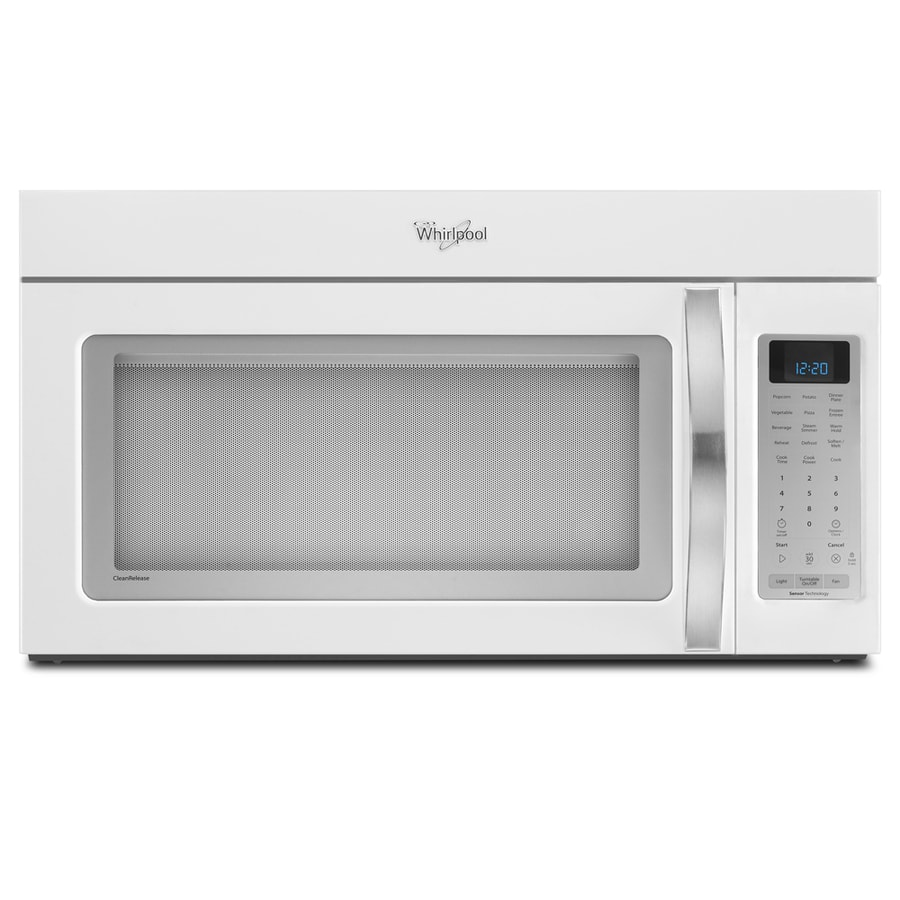 Whirlpool white ice 2 cu ft over the range microwave with sensor cooking