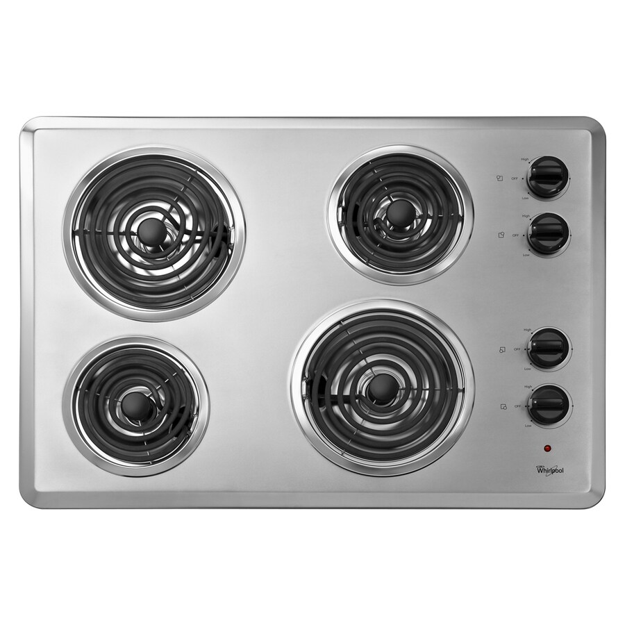 Cheap Electric Cooktops Whirlpool 30 In Coil Stainless Steel Electric Cooktop Common 30