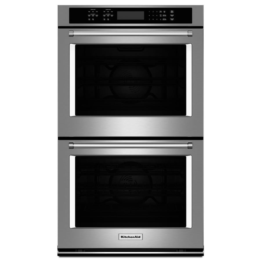 30 Wall Ovens Kitchenaid Self Cleaning Convection Double Electric Wall Oven