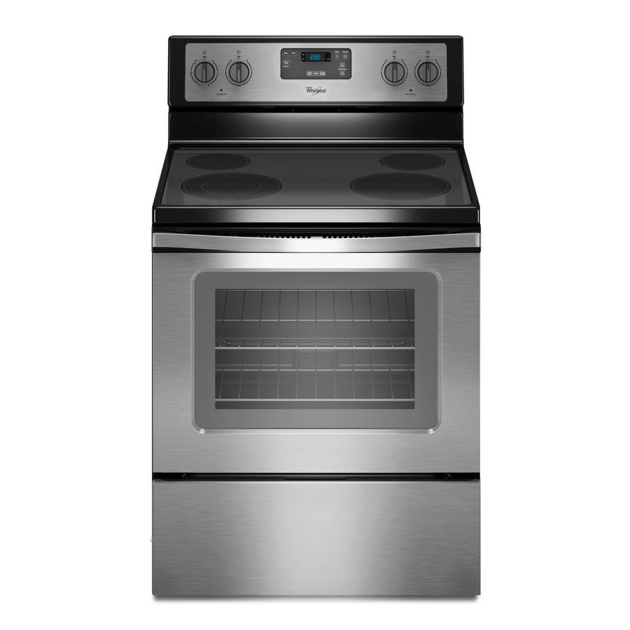 Oven Whirlpool Whirlpool Smooth Surface 4.8-cu Ft Freestanding Electric