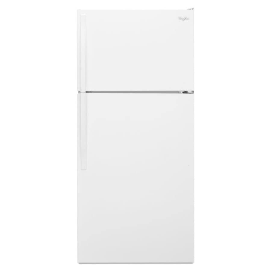 14 Cu Ft Refrigerator Whirlpool 14 3 Cu Ft Top Freezer Refrigerator White At Lowes