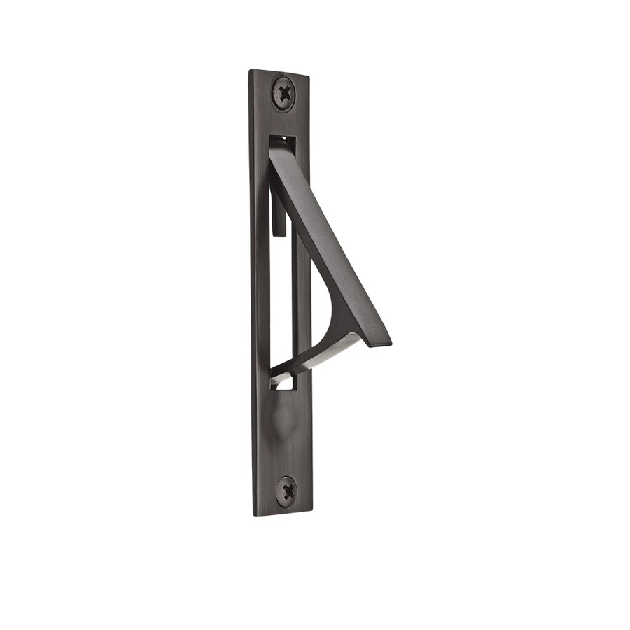 Door Pulls Baldwin 74 In Venetian Bronze Passage Pocket Door Pull At Lowes