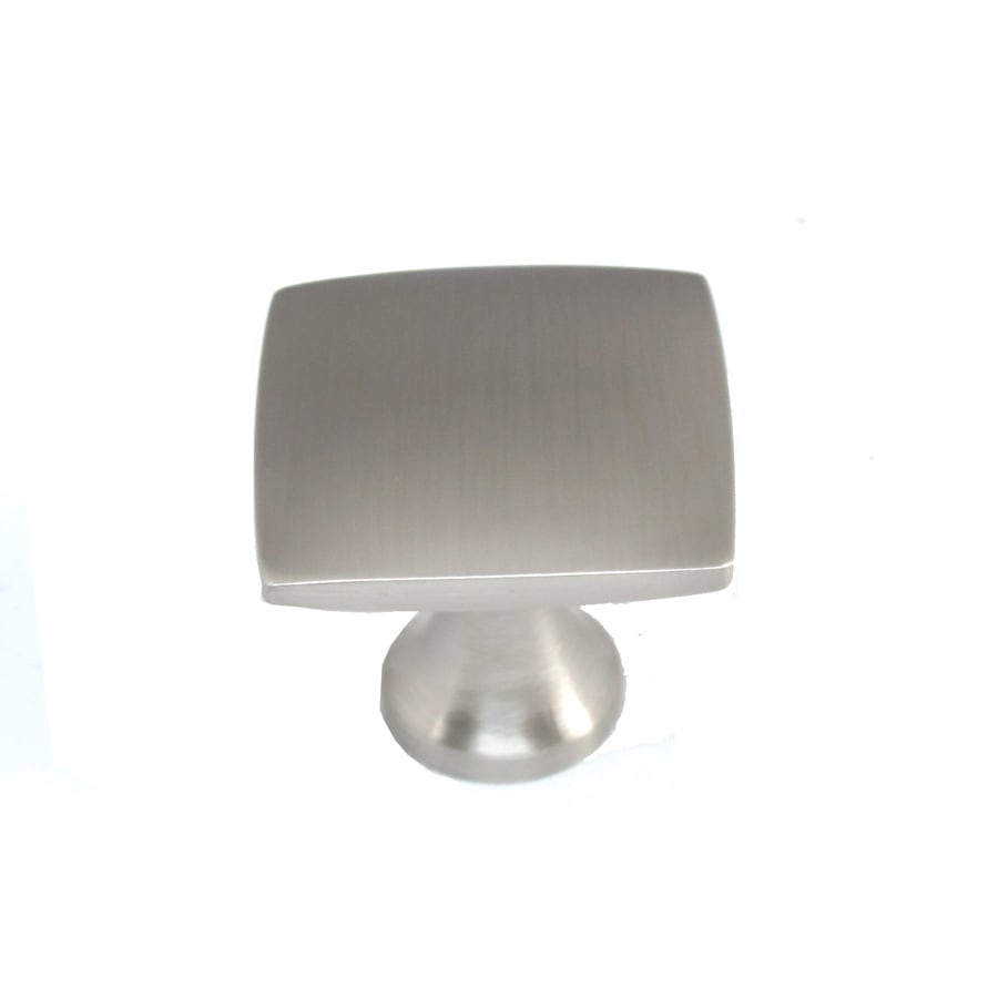 Paint Kitchen Cabinet Hardware Silver Shop Allen + Roth Brushed Satin Nickel Square Cabinet Knob