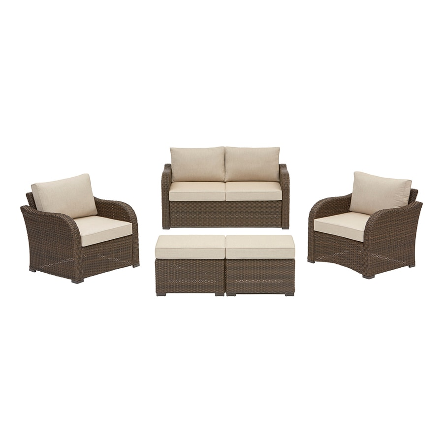 Best Choice Products 5pc Rattan Wicker Sofa Set Instructions Patio Furniture Sets At Lowes