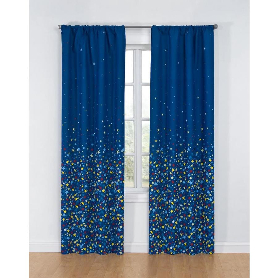 104 Inch Curtains Glow Glow 84 In Multi Polyester Single Curtain Panel At Lowes