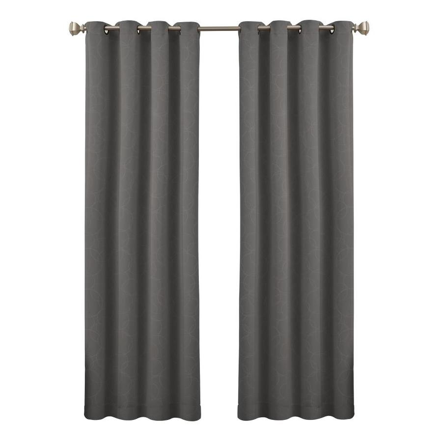 108 Long Shower Curtain Eclipse Round And Round 108 In Grey Polyester Grommet Blackout