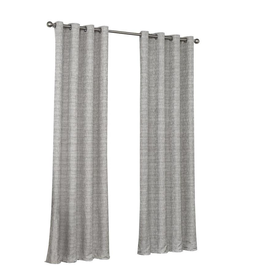 108 Inch Wide Shower Curtain Eclipse Trevi 108 In Grey Polyester Grommet Blackout Thermal Lined