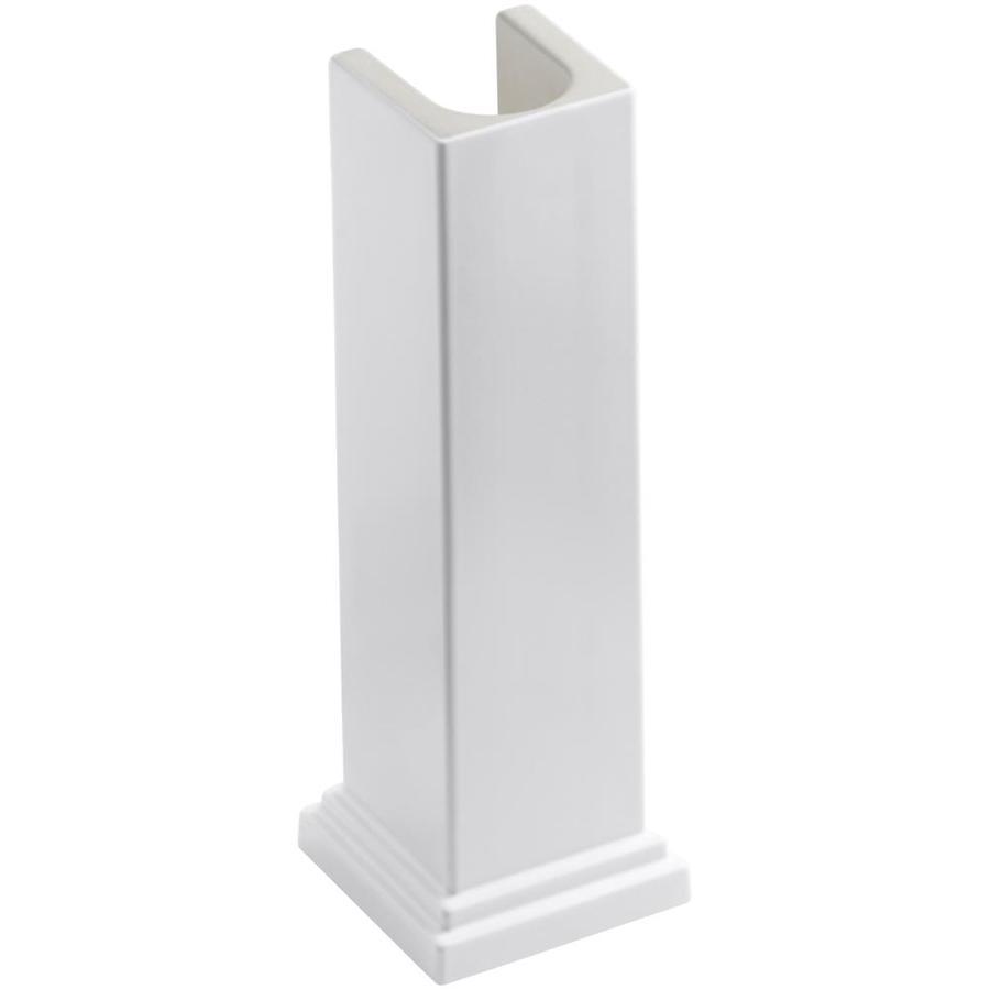 Shop Kohler Tresham 28 In H White Fireclay Pedestal Sink