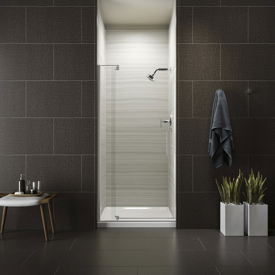 Bathroom Kohler Kohler Revel 31 125 In To 36 In W Frameless Bright Polished Silver