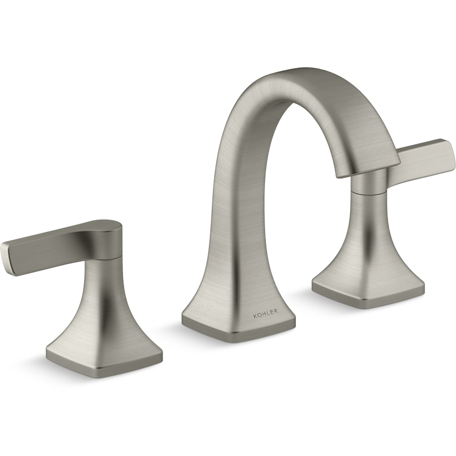 Bathroom Kohler Kohler Maxton Brushed Nickel 2 Handle Widespread Watersense