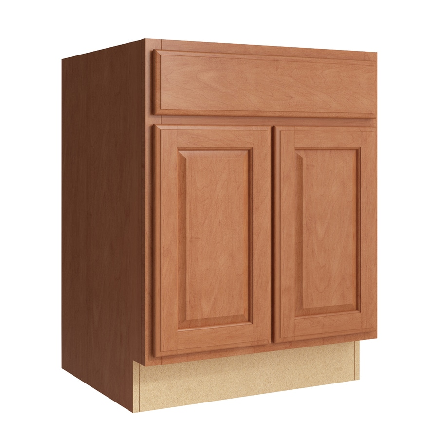 Lowes Wheat Kitchen Cabinets Kraftmaid Momentum Settler 24-in Hazelnut Bathroom Vanity