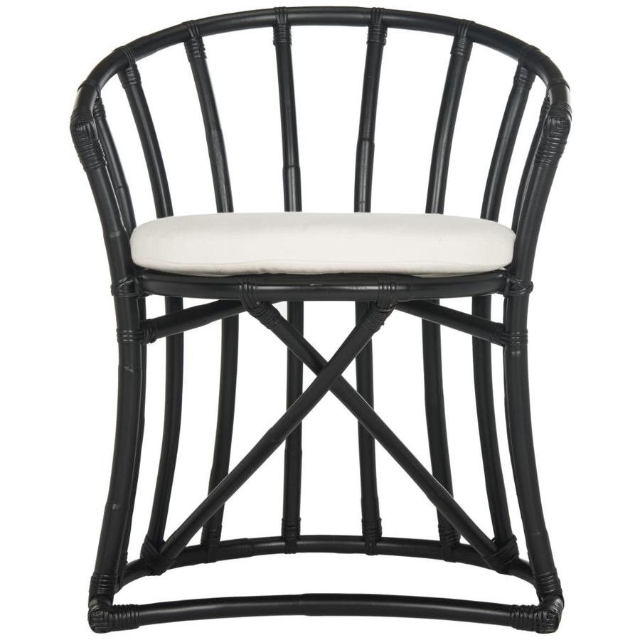 Black And White Accent Chair Safavieh Bates Coastal Black White Accent Chair At Lowes