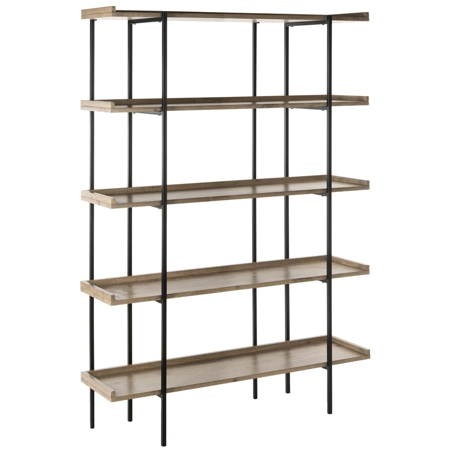 Etagere Metal Safavieh Cecilia Oak Black Metal Etagere At Lowes