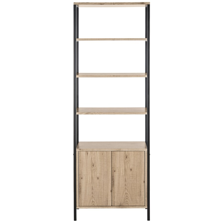 Etagere Metal Safavieh Natasha Oak Black Metal Etagere At Lowes