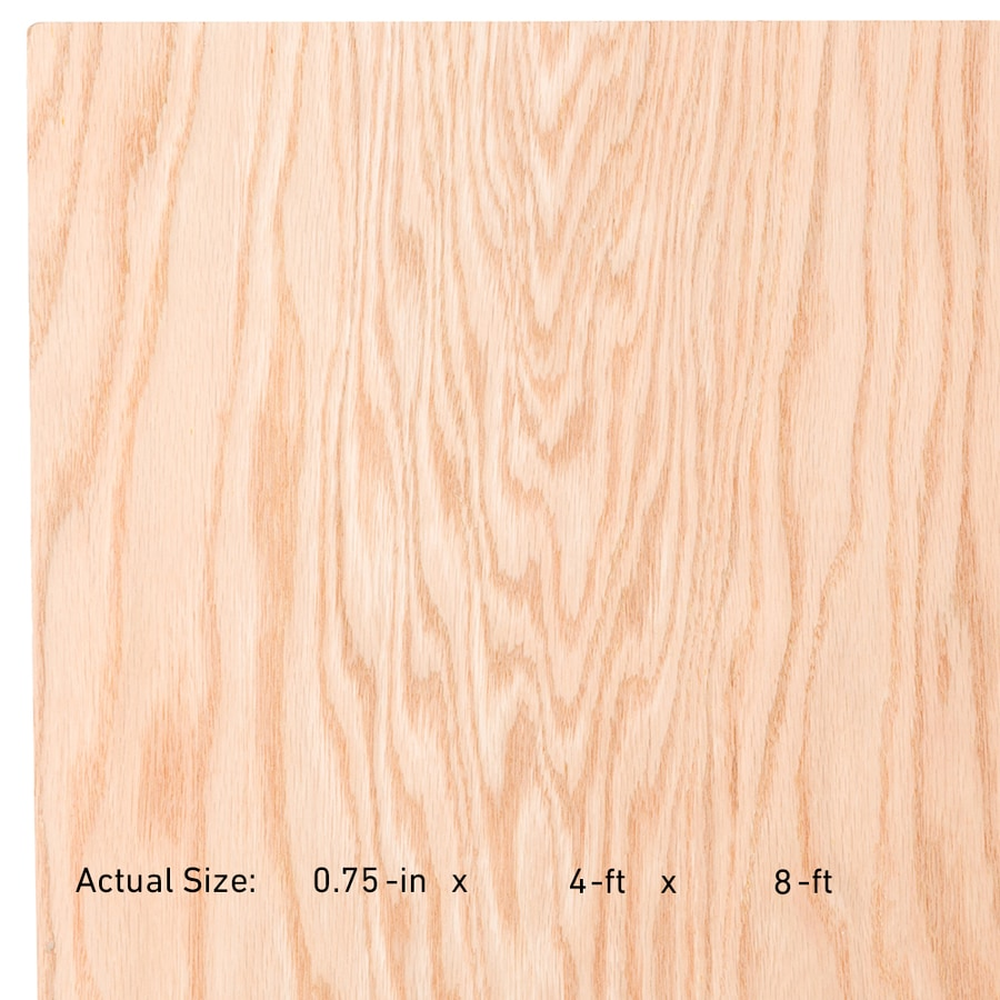 Oak Plywood Top Choice 3 4 In Hpva Red Oak Plywood Application As 4 X 8 At