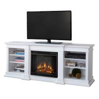 Shop Real Flame 72-in W 4780-BTU White Wood LED Electric ...