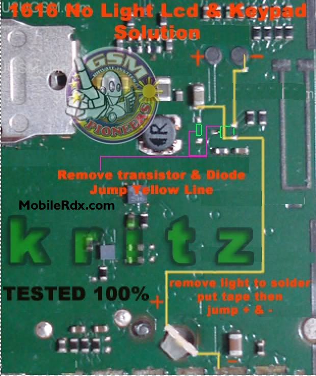 Lcd Repair Nokia 1616 Display Light Ways Lcd Jumper Solution