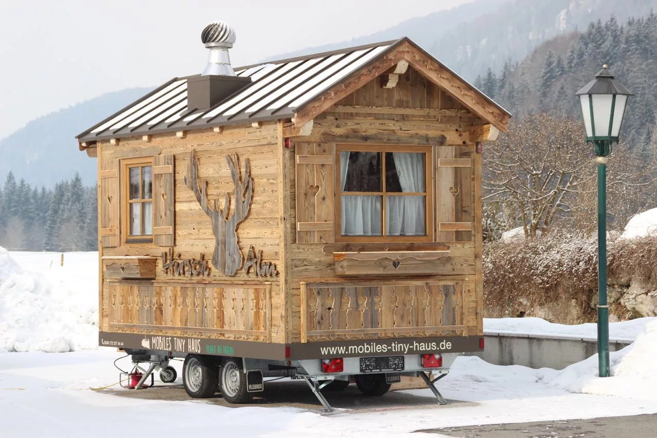 Mobiles Holzhaus Mobiles Tiny House Alm