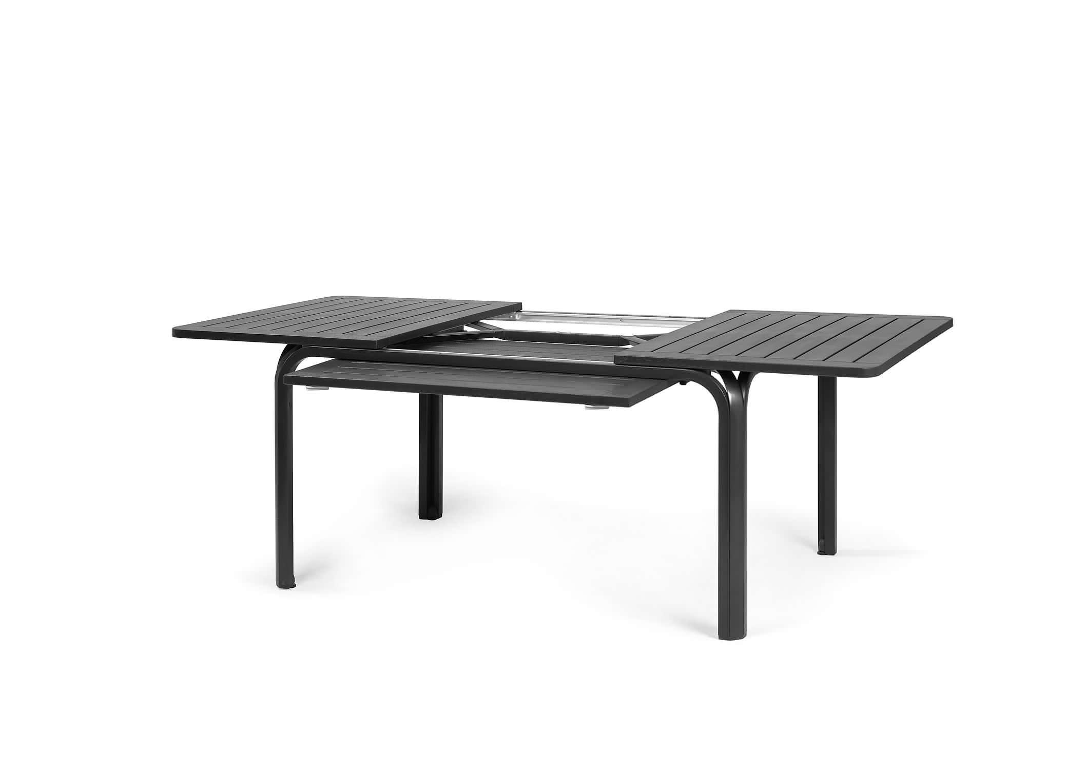 Salon Jardin Aluminium Table Extensible 135/270 Cm + Chaises Et Fauteuils  Empilables Modena