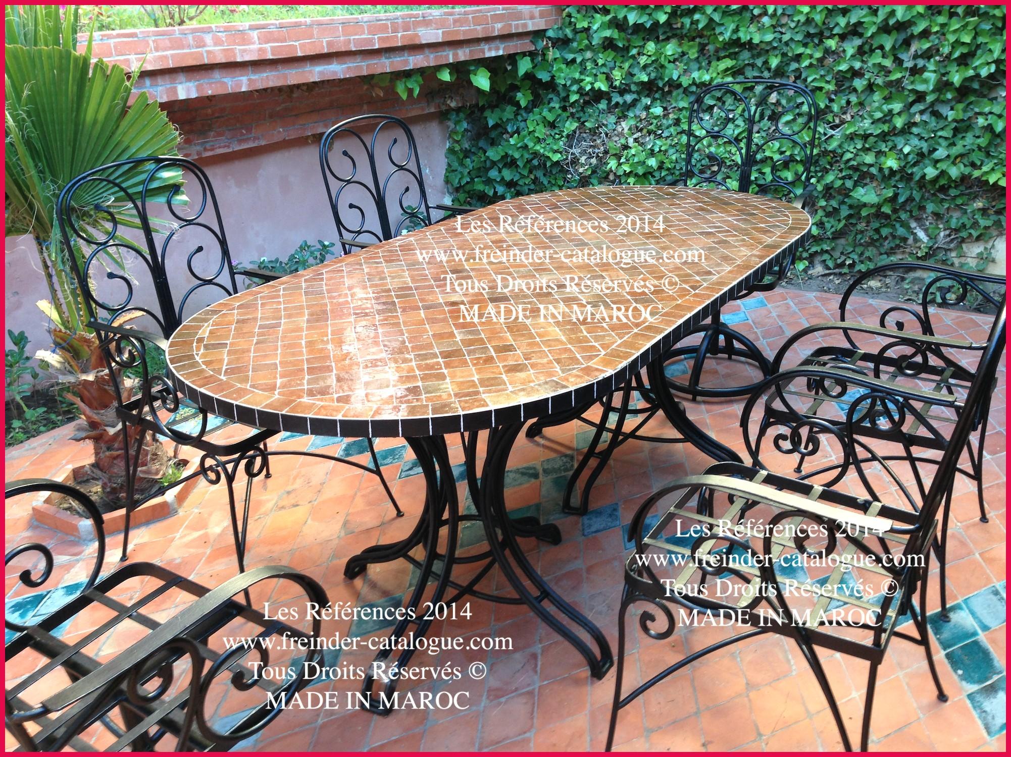 Table Jardin Ronde Fer   Table Ronde Fer Forgé Impressionnant Table ...