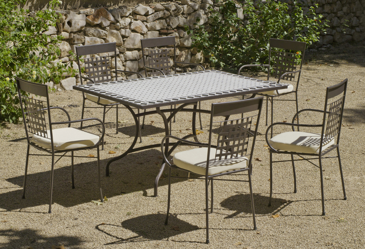 Table Extensible Et Fauteuils Louga | Table Et Chaise De Jardin ...
