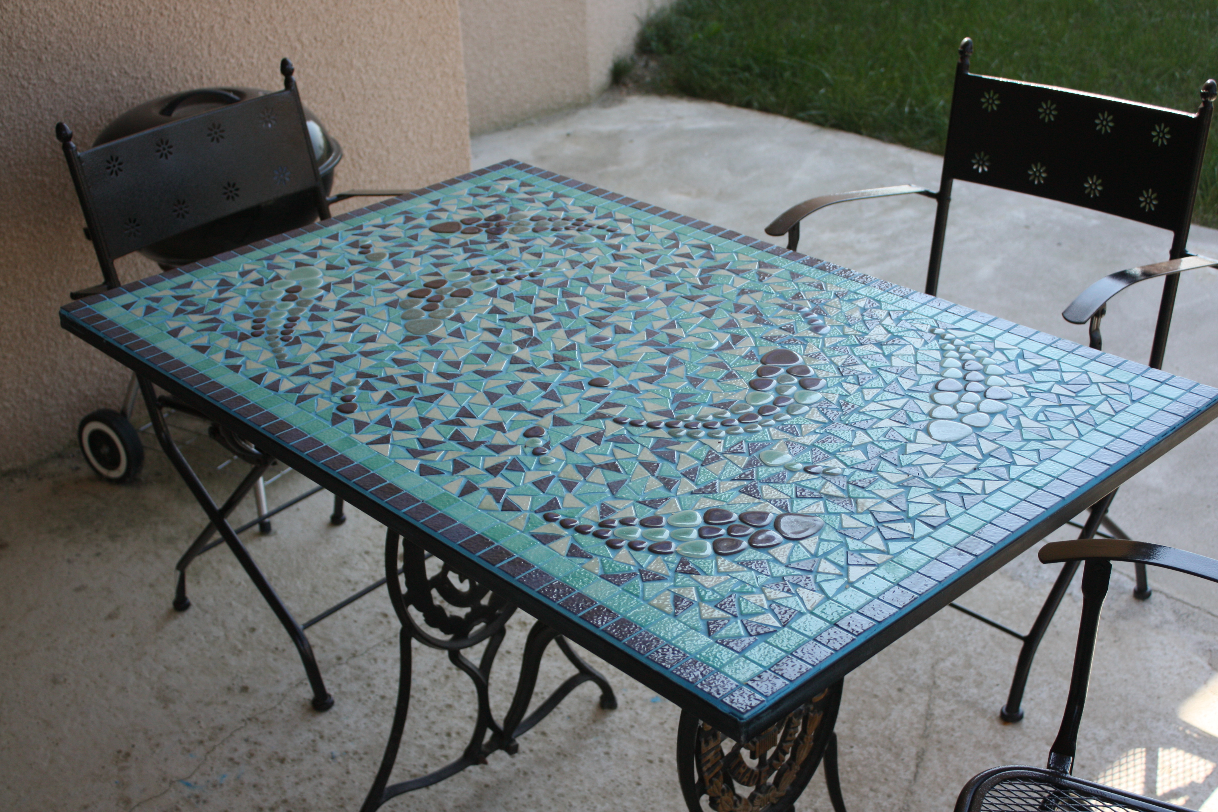 Table Exterieur Mosaique Table De Jardin Mosaique Jardiland