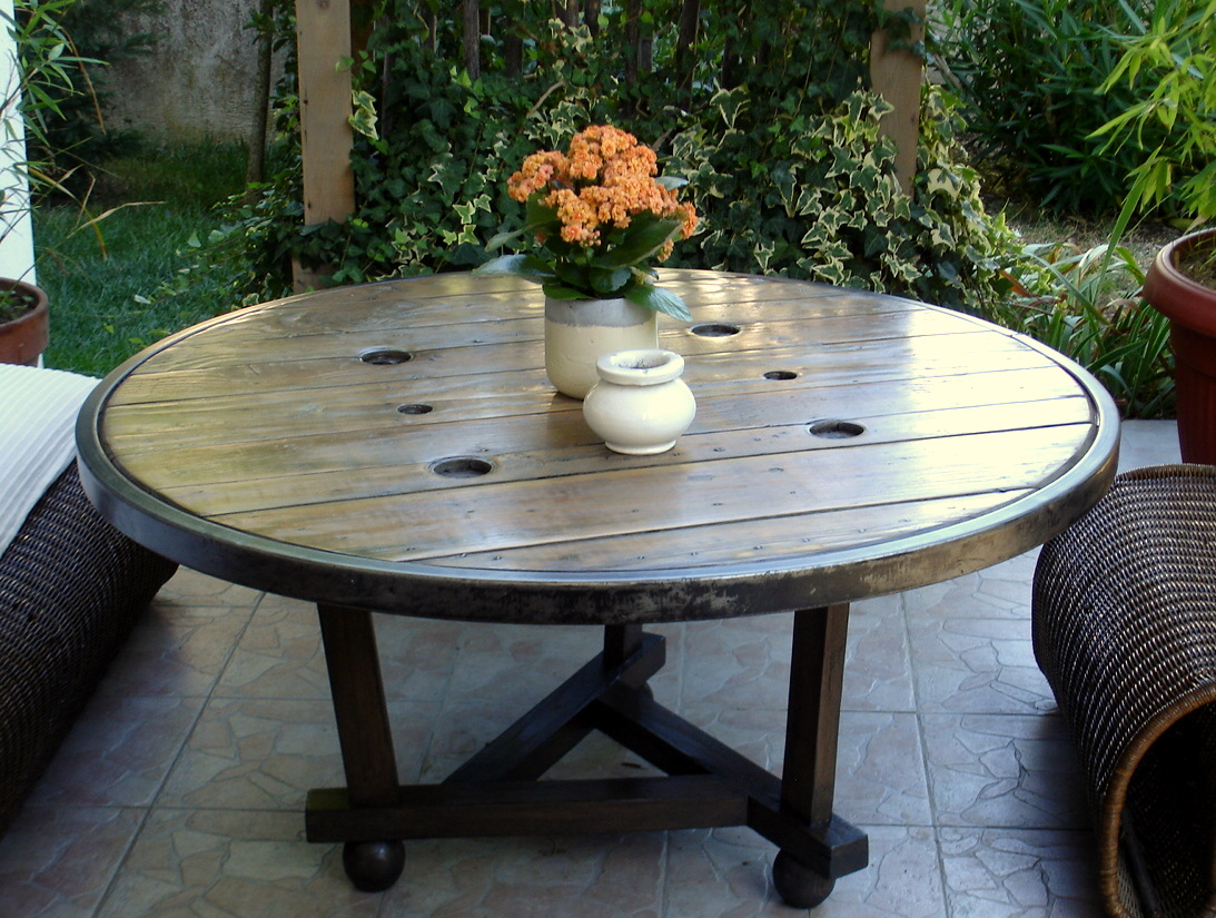 Table Exterieur Industriel Beautiful Touret Table Basse Jardin Pictures House
