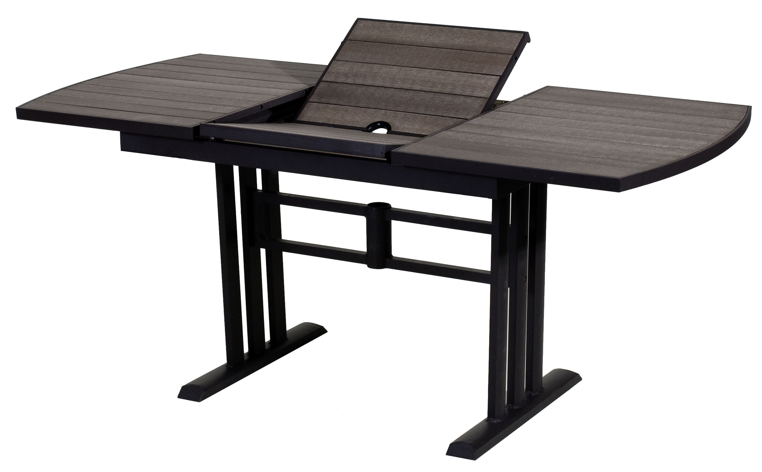 Salon De Jardin Composite Extensible Table De Jardin Twig Rectangulaire En Hpl