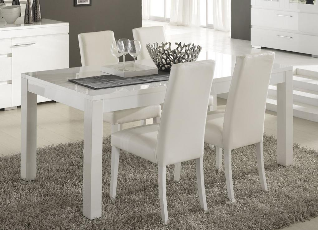 Meuble Tv En Pin Blanc Table A Manger Laque Blanc