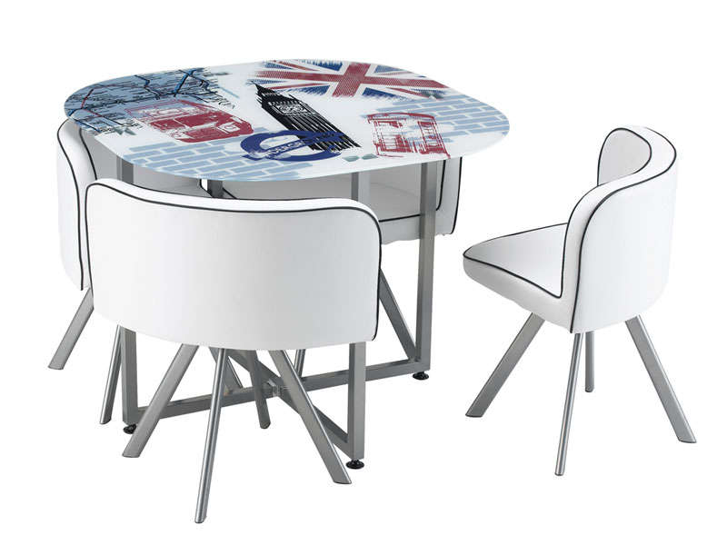 Meuble Bas Tv Conforama Table A Manger New York + 4 Chaises