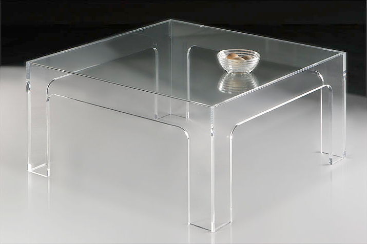 Design Italien Meuble Table Basse Plexiglas
