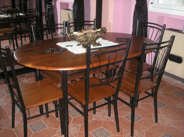 Table Jardin Octogonale Table A Manger Fer Forge Et Bois
