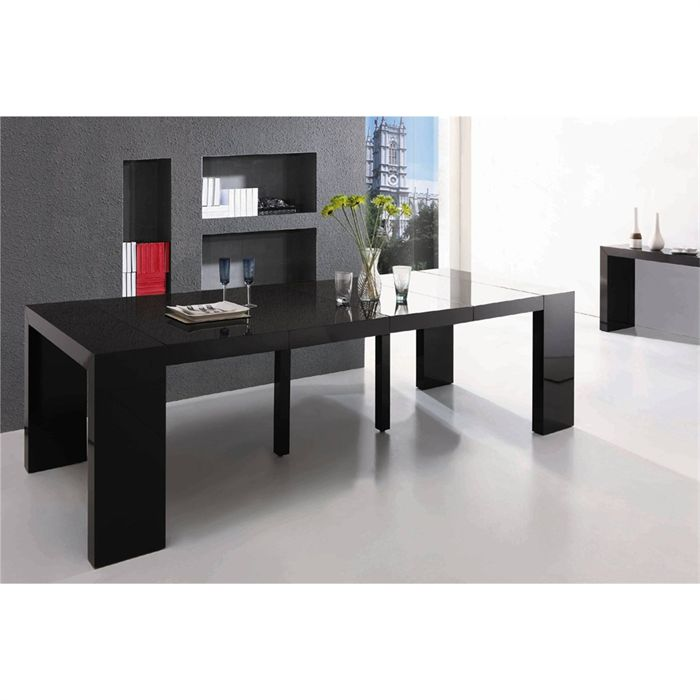 Ikea Meuble Bas Tv Table Console Extensible Ikea Noir