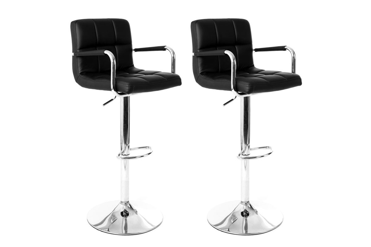 Tabourets De Bar New Cab 2 Tabourets De Bar York Lot De 2 Tabourets De Bar R Glables Achat