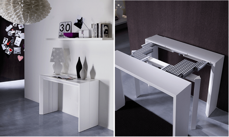 Meuble Tv Italien Design Table Console Telescopique