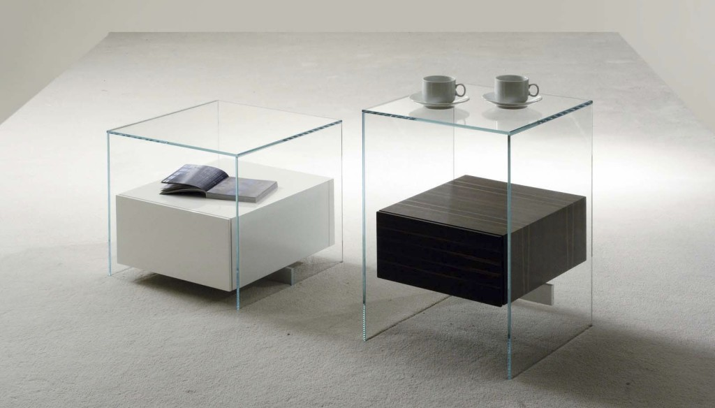 Table Console Verre Table De Chevet Design En Verre