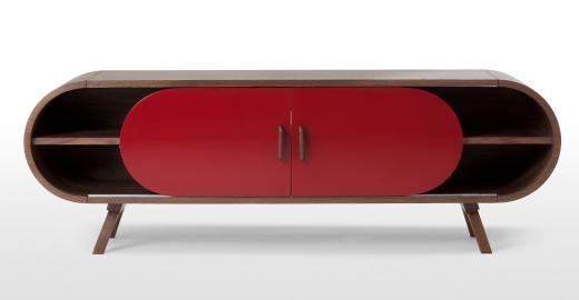 Meuble Tv Norstone Esse Meuble Tv Bas Rouge