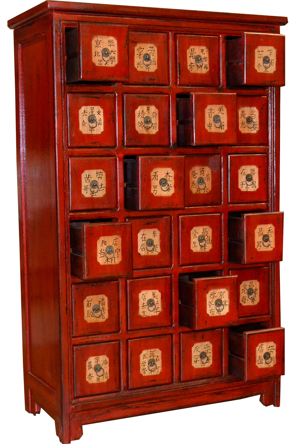 Meuble Chinois Rouge Grainetier Chinois 24 Tiroirs