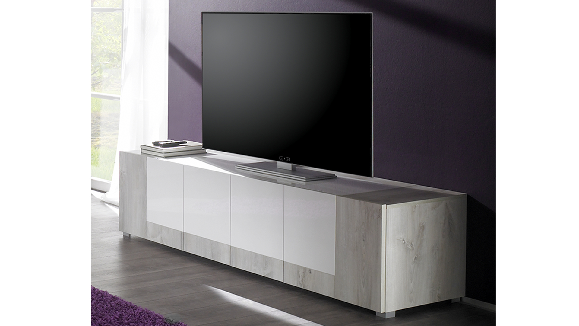 Meuble Tv Arrondi Bois Cheap With Meuble Tv Arrondi Bois
