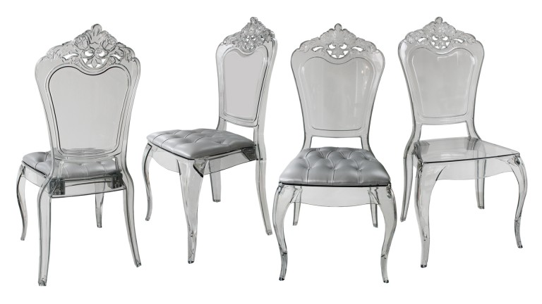 Chaises Polycarbonate Starck Lot De 4 Chaises Astorga Design En Plexi Transparent