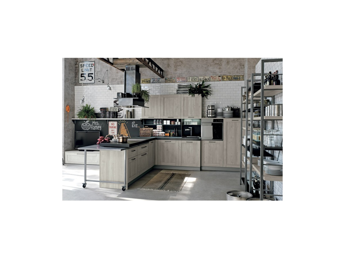 Cucina A Gas Vintage City Vintage Modern Kitchen By Stosa