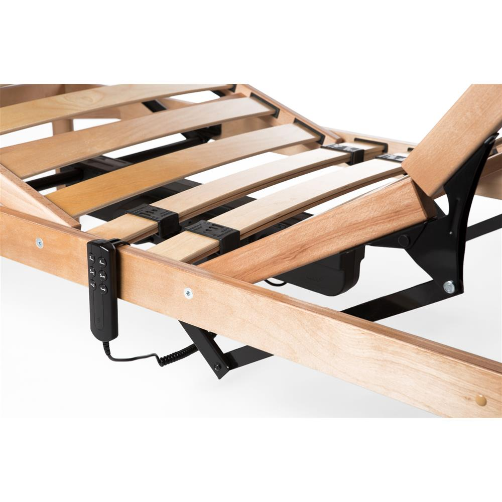 Bed 120 X 190 120x190 31h Motorised Wooden Slatted French Bed Frame Mobili Fiver