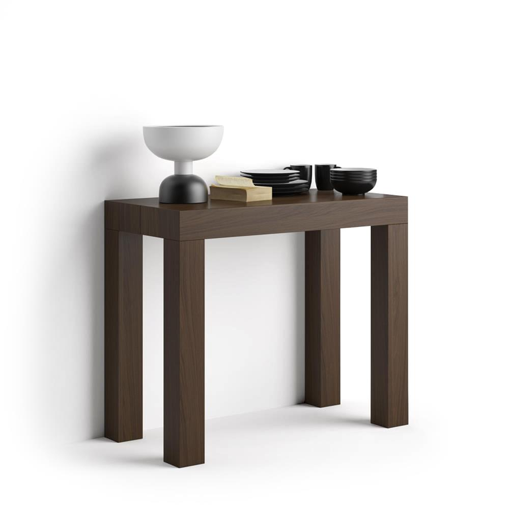 Console De Table First Extendable Console Table Walnut