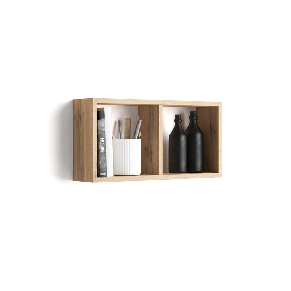 Eiche Wandregal Wandregal Cubo 59x30 Cm First Laminat Rustikal Eiche